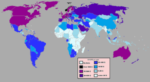 The GDP per capita in PPP of the year 2011. It is from Worldbank, CIA and IMF Data. Courtesy of Wikipedia