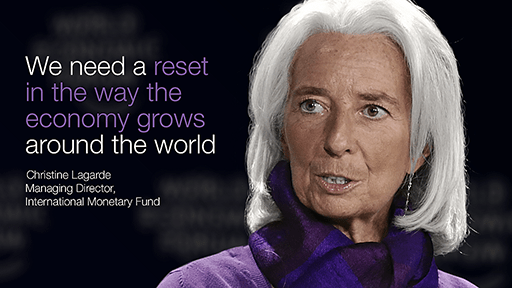 Christine Lagarde, Chairman IMF at 'Davos World Economic Forum'.