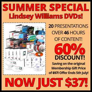 Lindsey Williams Online - Summer Special - Now Just $37 - Until July 5, 2017